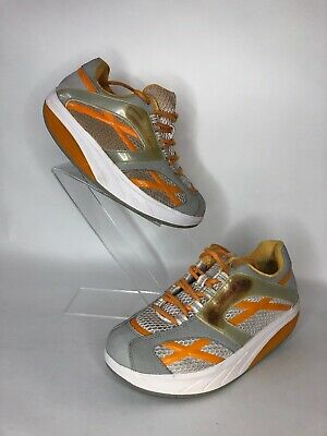 460d4fabdf1c Mbt M. Walk Ladies Shoes Size 8 Orange White Womens Walking Toning Shoes B8