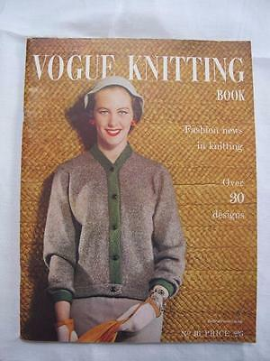 Vintage 1950s Vogue Vogue-Knit Knitting Pattern Booklet - Fashion News