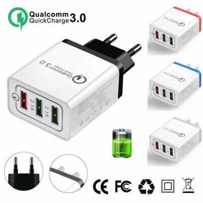 QC 3.0 3Port Fast Qualcomm Quick Charge 3.0 USB Hub Wall Charger Adapter US Plug