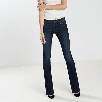 46a6abb0aa13 Mother The Runaway Flare Leg Jeans Dark Wash Sz 26 Retail $200