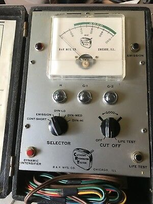 Vintage B & K CRT Cathode Rejuvenator Tester Model 400
