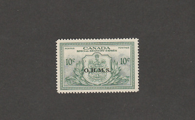 CANADA 1950 SPECIAL DELIVERY OFFICIAL 10c MINT STAMP SC # EO1