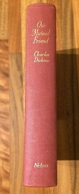 Antique Our Mutual Friend By Charles Dickens Hardback Book Thomas Nelson & Sons