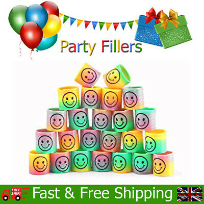 Smiley Slinky Springs Kids Childrens Birthday Christmas Party Bag Fillers Toys