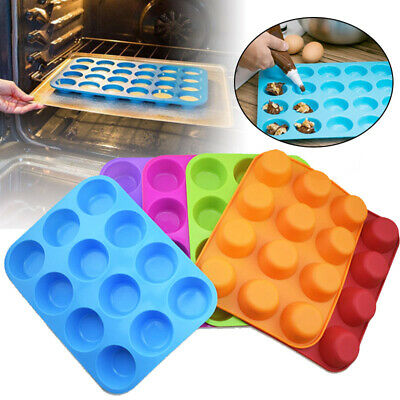 12/24 silicone Muffin Yorkshire pudding moule Cupcake cuisson plateau Bakeware