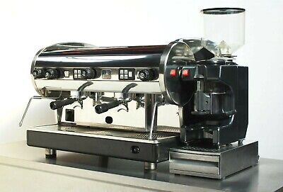 CMA Lisa 2 Group Coffee - Silver Espresso Machine Package + Grinder & Filter