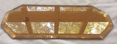 """1 Octagon Beveled Amber Glass Panels 12 Point Star Chandelier Lamp Part 8 3/4"""""""