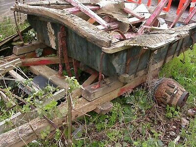 ANTIQUE LARGE FARM tipping horse cart/wagon for complete restoration c-mid  1800s