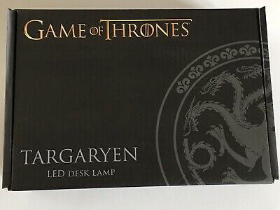 Game Of Thrones Targaryen LED Desk Lamp Light Exclusive Dragons New