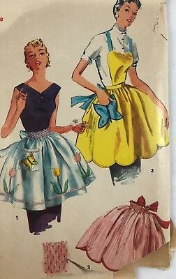 1950s Simplicity Vintage Sewing Pattern Apron 4900