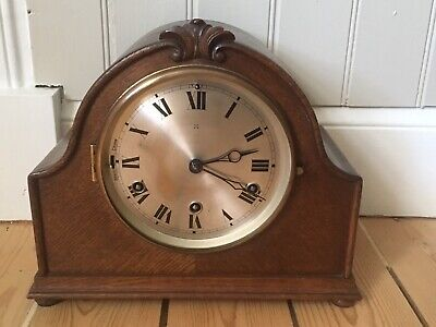 Vintage German HAC Mantel Clock Westminster Chimes Wurttemberg Germany Antique