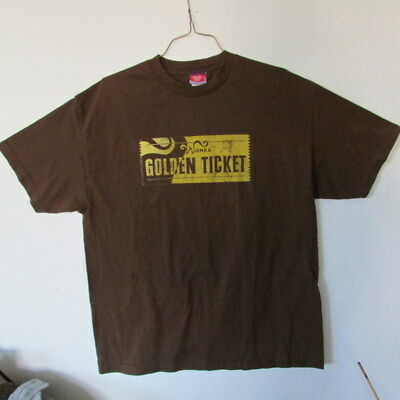 """Vintage Charlie & The Chocolate Factory """"Golden Ticket"""" Graphic T-Shirt XL EUC"""