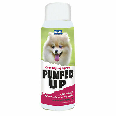 Pumped Up Dog Coat Grooming Styling Finishing Spray Lightweight Show Volume 16oz