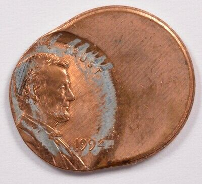 1c 1994 Lincoln Cent 60% Off-Center UNC Red