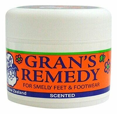 Scented Grans Remedy Foot Powder for Smelly Feet & Footwear Eliminates Bacteria