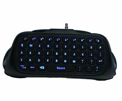 PS4 Wireless Backlit Chat Pad Keyboard w/ Built In Speaker for PlayStation 4