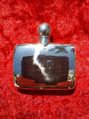 Edwardian Silver Spirit Flask / Perfume Bottle Sheffield 1901