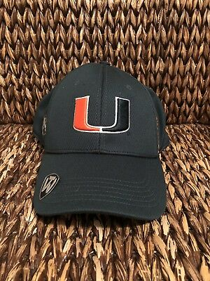 san francisco b47f3 de7c5 NEW Top of the World NCAA UNIVERSITY OF MIAMI HURRICANES Hat Memory Fit One  Size