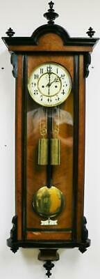 Good Antique Walnut Twin Weight Regulator 8 Day Gong Striking Vienna Wall Clock