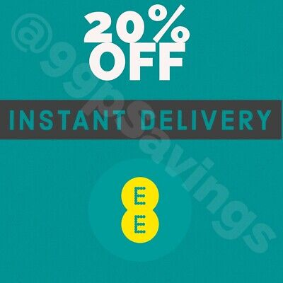 Ee 20% Off + 500Mb Data Safety Net Every Month Discount Code -  Instant Delivery
