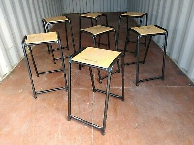 Incredible Vintage Stacking School Lab Stools 10 Available 18 50 Beatyapartments Chair Design Images Beatyapartmentscom