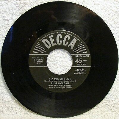 "Russ Morgan ""Lay Down Your Arms"" 1956 7"" 45RPM Pop Single Decca 9-30070 (EX)"