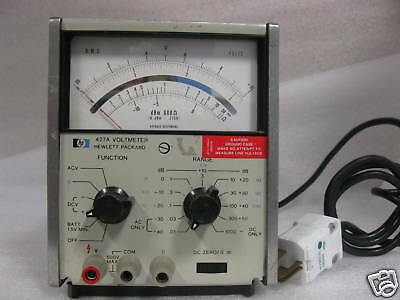 HP 427A Voltmeter   WITH OPTION # 01 & H32