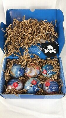 Kids Pirate Bubble Bath Bombs with Surprise Toy Minifigures Inside by Two Sister