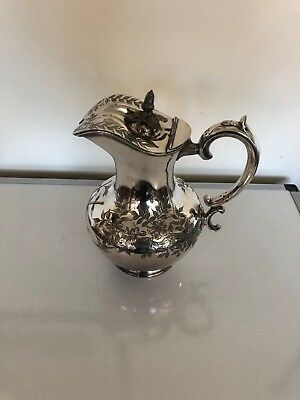 Stunning Large Bulbous Shaped Silver Plated Claret /Water Jug  (Walker & Hall)