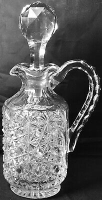 """Rare Antique Abp 11"""" High Early Hawkes Russian Cut Glass Whiskey Bottle Decanter"""