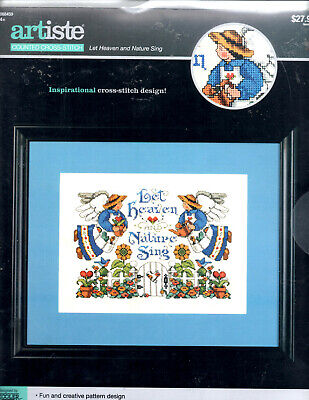 Let Heaven And Nature Sing Counted Cross Stitch Kit Artiste New (30)