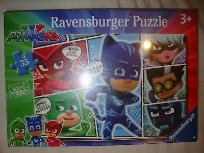 NEW Ravensburger PJ Masks Save the Day 35 piece jigsaw puzzle Age 3+