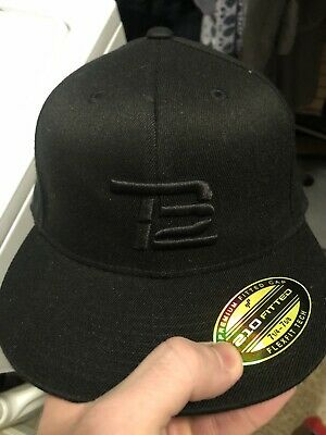 0f3220020ef28 Tom Brady TB12 Fitted Black On Black Limited Edition Cap Hat Large Patriots