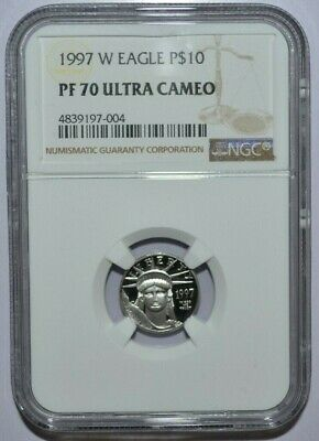 1997-W $10 1/10 oz  PLATINUM EAGLE NGC PF70 ULTRA CAMEO