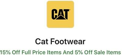 CAT Footwear - 15% Off Full Price Items And 5% Off Sale Items ONLINE CODE - SAVE