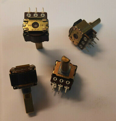 FREE SHIP (Lot of 2) CTS 4 bit Rotary Encoder 16 detents Continuous rotation NOS