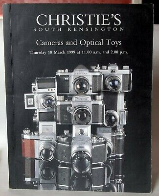 """Christies """"Cameras and Optical Toys"""" auction catalogue from March 1999."""