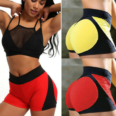 Women Quick Dry Compression Sports Shorts Ladies Running Exercise Tight Pants US
