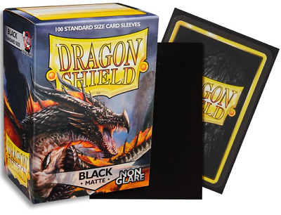 Dragon Shield Sleeves Matte Black Non-Glare 100 Count Sleeves