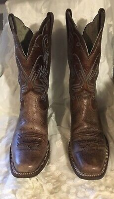 cb9f7b6a1c6 ARIAT LEGEND WESTERN Brown Rowdy Oiled Boots Women's Size 8.5 B 10001046