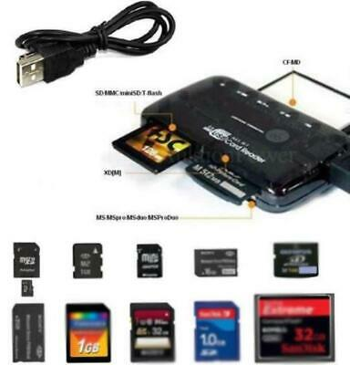All in One External USB Memory Card Reader Adapter for Micro SD MMC SDHC M2 TF