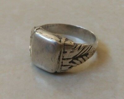 extremely ancient old ring silver legionary roman ring silver rare type