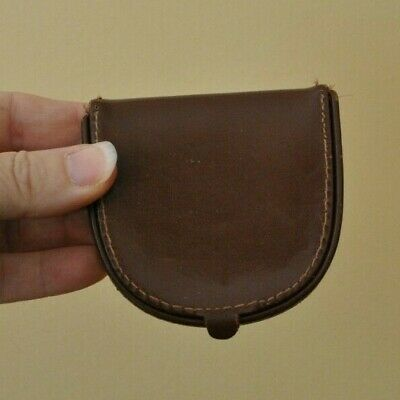Vintage Leather Noymer Coin Purse - Made in England EUC