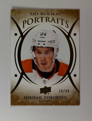 2018-19 UD Upper Deck Series 2 Rookie Portraits Gold #67 Mikhail Vorobyev /99