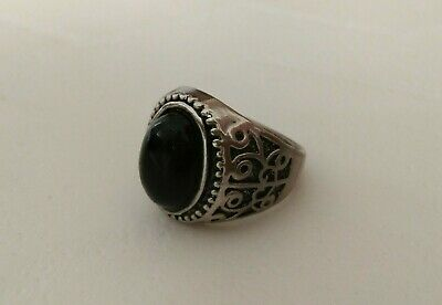 rare ancient viking ring silver color artifact quality very Stunning