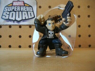 Marvel Super Hero Squad RARE Trench Coat PUNISHER w/ Two Guns from Wave 9