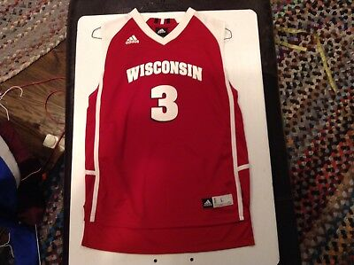 best sneakers 4de15 051bc WISCONSIN BADGERS #3 ADIDAS BASKETBALL JERSEY SZ Youth L - Cool