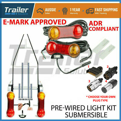 Trailer Led Wire Kit Easy To Install Plug And Play Wiring Lamp Boat Submersible