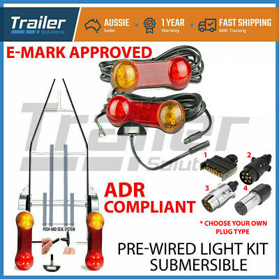 Trailer Led Wire Kit Easy To Install Plug And Play Wiring Lamp Boat Diy