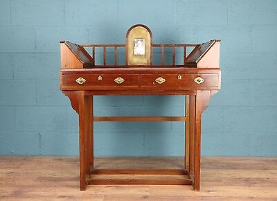 Arts and crafts mahogany desk, JS Henry, G M Ellwood  (100252)